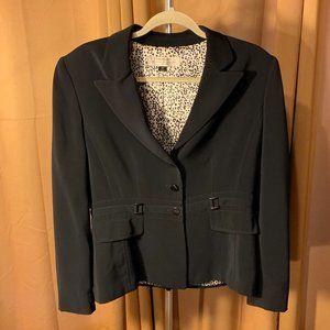 Tahari Black Blazer Size 10P